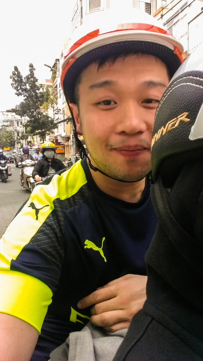 Grumpy In Saigon Riding
